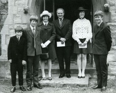 Uncle Matey, Uncle Graham, Gran, Granddad, Auntie Karen and Dad