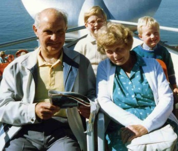 Granddad, Me, Gran and James in Berlin 1989