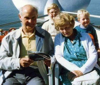 Granddad, Me, Gran and James in Berlin 1989