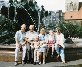 Dad, Granddad, James, Gran, Me and Mum in Berlin 1989