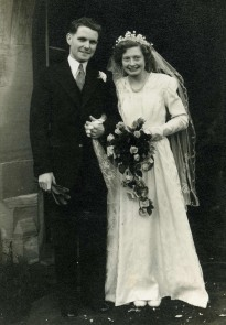 Gran and Granddad on their wedding day